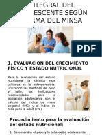 Paquete y Evaluación Integral Del Adolescente Según Norma Diapositivas (1)