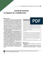 Cinética de Remoción de Bacterias en Lagunas de Estabilización