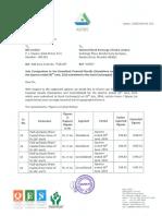 Corrigendum to Financial Results for June 30, 2016 [Result]