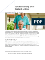 How to Prevent Falls Among Older Adults in Outpatient Settings