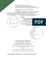 Distancia Geográfica Entre Dos Puntos de La Tierra