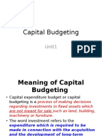 01. Capital Budgeting(Unit1)