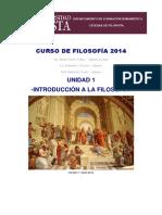 CURSO de FILOSOFÍA 2014 U1 Introducción a La Filosofía