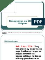 4-Kasaysayan Ng Filipino