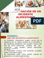 Investigacion de un Incidente Alimentario.ppt