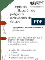 Identificación de Peligros, Evaluacion de Riesgo