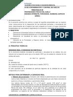 PRÁCTICA N° 03 PROPIEDADES FÍSICAS DEL SUELO  DENSIDAD POROSIDAD HUMEDAD