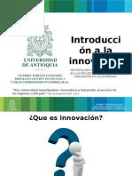 1. Introduccion a La Innovacion