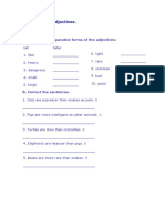 Elementary Comparative Adjectives Exercises