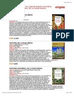 Libros de Historia de La Edad Media ARTEGUIAS