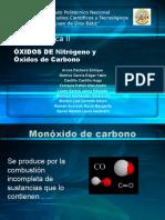 presentación óxidos de nitrógeno y de carbono