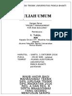 Pamflet Kuliah Umum Model (1)