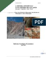 Informe Geológico Prospecto Huancapon CIA Minera EFEMPI
