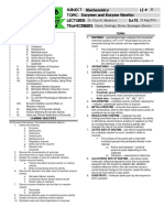 Biochemistry 1.03 Enzymes