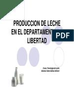 PRODUCCION DE LECHE EN LA REGION LA LIBERTAD