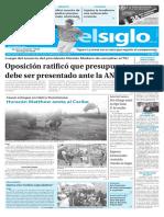 Edición Impresa Elsiglo 05-10-2016