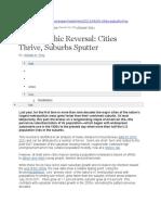 Demographic Reversal Cities Thrive Suburbs Sputter