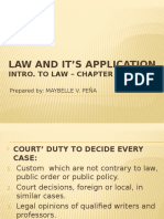 Law and It's Application