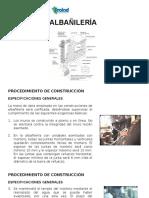 Albañilería (Procedimiento de Construcción & Resistencia)