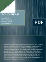 SOLIDIFIKASI