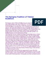 The Nyingma Tradition of Tibetan Buddhism1