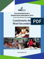 Cuestionario Del Nivel Secundaria 2015