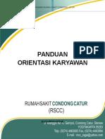 Panduan Orientasi Karyawan RSCC_2016