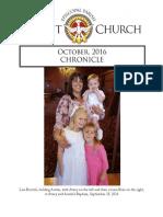 Christ Church Eureka October Chronicle 2016
