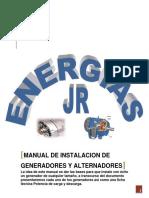 Manual de Instalacion de Generadores Y Alternadores
