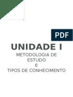Metodologia Científica - UNIDADE 01