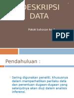 Materi Ke 4 Deskripsi Data Sept 2010