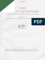 Dicionário Assírio B