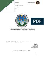 Fiscalizacion Partidos Politicos