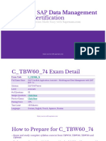 How to Competitively Prepare for the Exam  C_TBW60_74