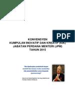 Panduan Penyertaan Konvensyen Kumpulan Inovatif Dan Kreatif Jpm 2015