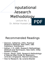 Research Methodology Lecture1