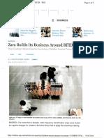 Zara Builds It Business Around RFID