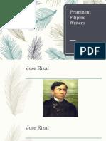 Prominent Filipino Writers