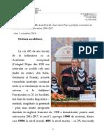 Discurs Ceremonie Deschidere an Universitar 2016-2017