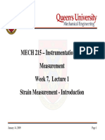 Strain Measurements Introduction