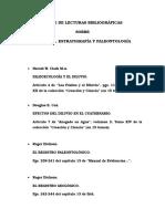 Índice de Lecturas Bibliográficas Geolo, Estrati y Paleontol...