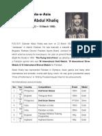 Subedar Abdul Khaliq