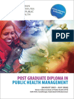 Post Graduate Diploma in Public Health Management Brochure