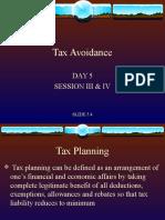 Tax Avoidance 5.4