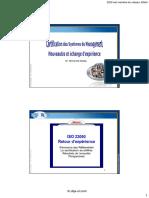 Journée d'Échange ISO 22000