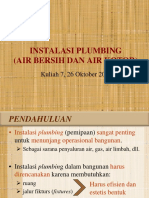 Kuliah 7 - Instalasi Plumbing Air Bersih Dan Air Kotor