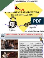 Ppt. Tema 3 Objetivos de La Inv.