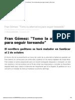 Alternativa de Fran Gomez