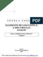 COSCIUG Discurs Monografie