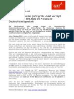 +++ Pressemeldung - Juist vor Sylt unter den Top 100 Zielen in Deutschland +++
